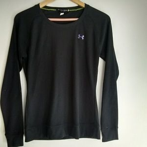 Under Armour Semi Fitted Black Thermal Long Sleeve
